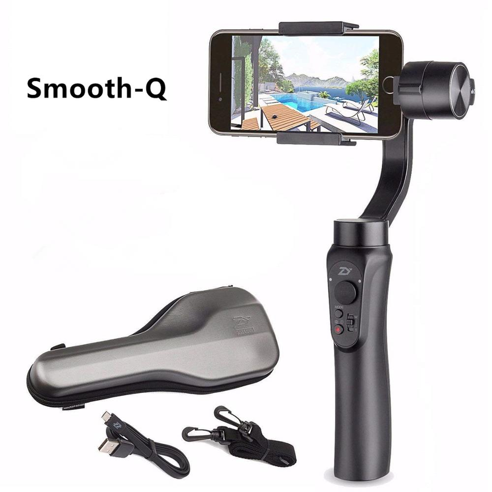 Zhiyun Smooth-Q Gimbal Stabilizer, 3-Axis Gimbal Stabilizer For IPhone X XR XS Pixel Smartphone Vlog - US  EU Warranty
