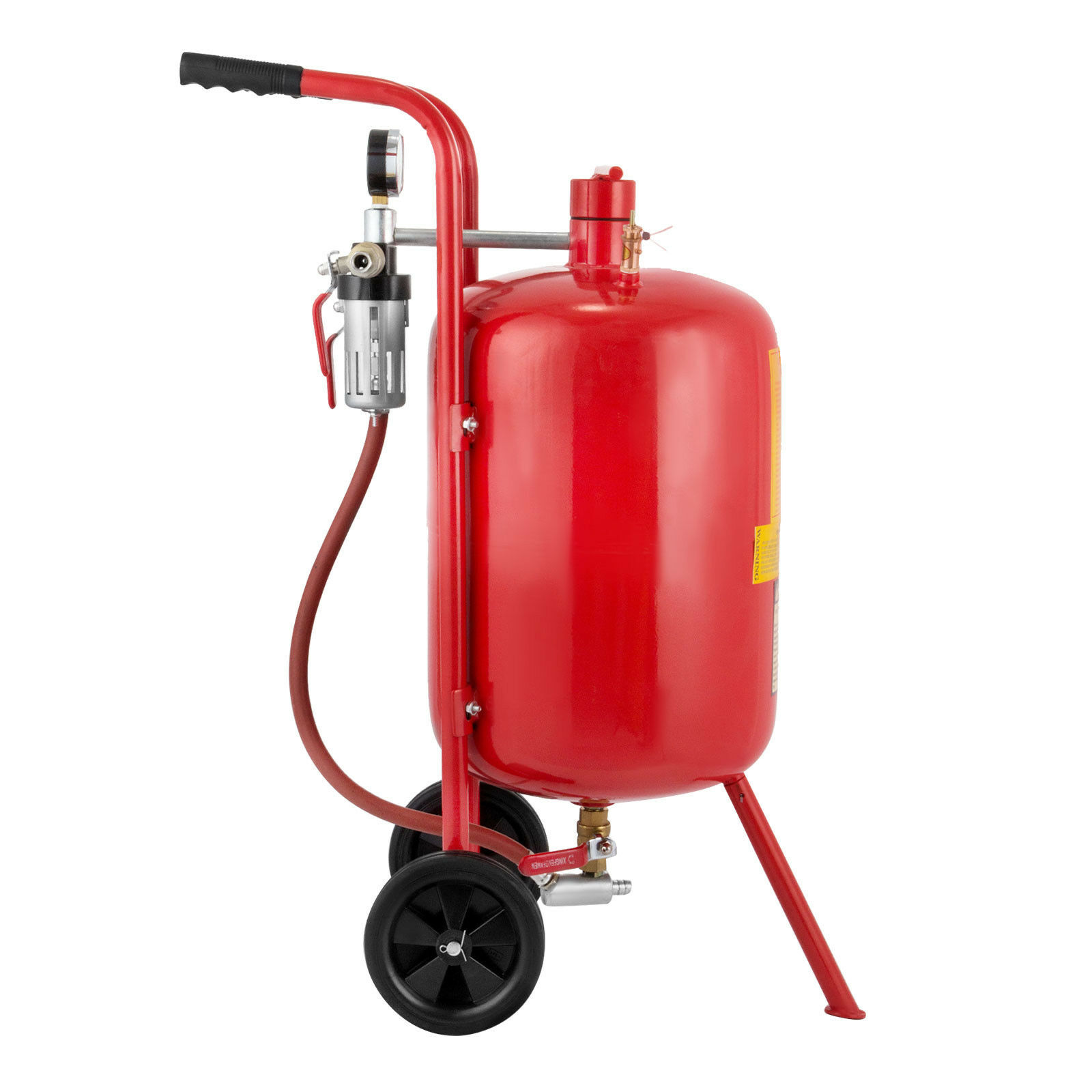 Portable Sandblaster with 30L Storage Tank Wheels and Accessories