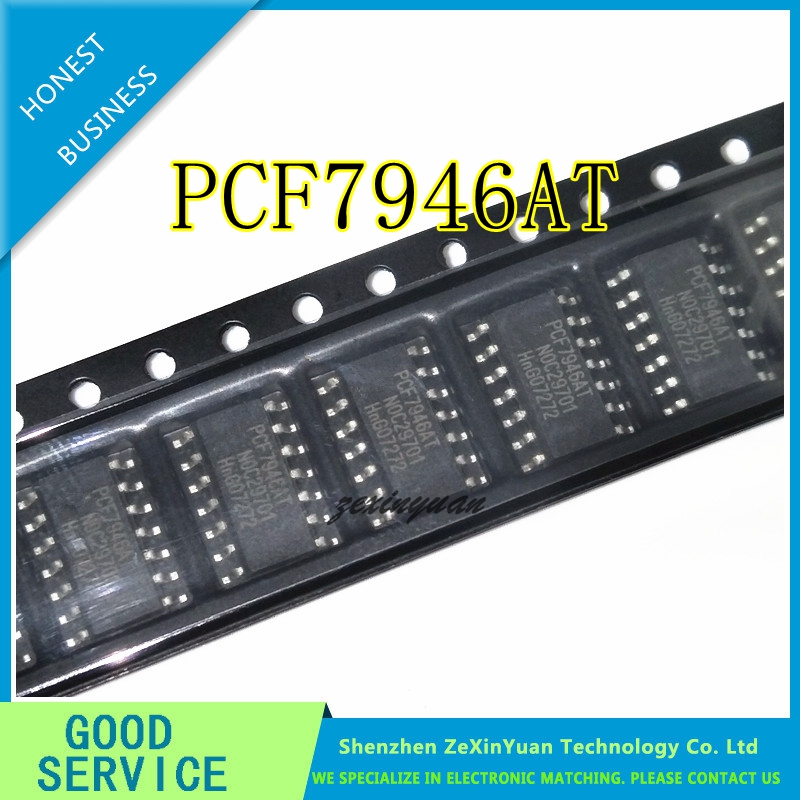 10PCS/LOT PCF7946 PCF7946AT SOP14 NEW CAR REMOTE CONTROL KEY BOARD VULNERABLE CHIP