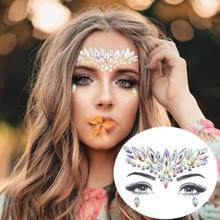 Temporary Tattoo Sticker Makeup-Tools Jewelry Glitter-Face Rhinestones Flash Masquerade