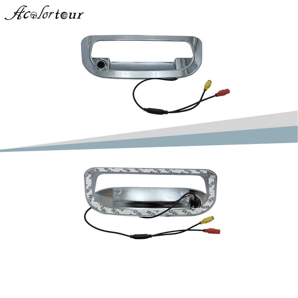 Car Rear Door Switch Rear View Parking Backup Camera Cover Tailgate Trunk Handle Covers For ISUZU D-MAX DMAX image