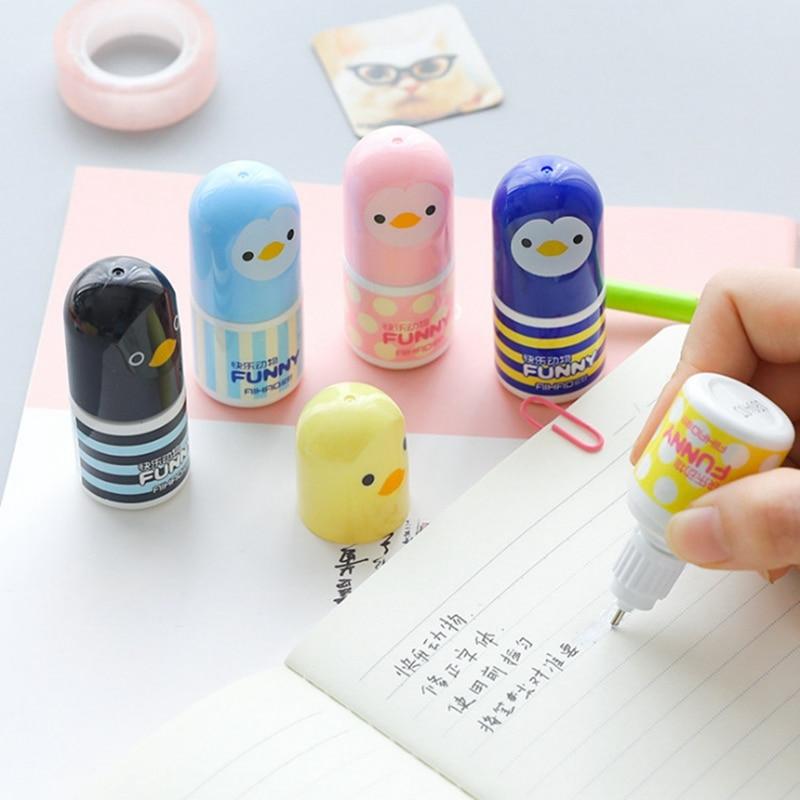 Cartoon Correction Fluid Corrector Tape Fluid Kawaii  Tool Children Students Stationery Gifts School Student Office Supplies