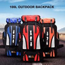 100L büyük kapasiteli sırt çantası yürüyüş sırt çantası açık spor paketi erkekler kadınlar Trekking kamp tırmanma sırt çantaları Trekking çantası