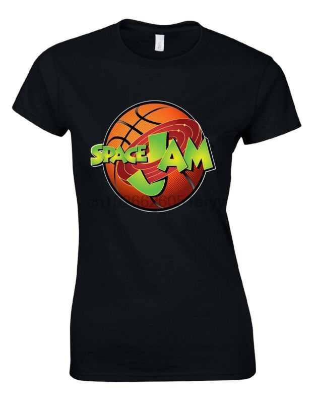Kosmiczny dżem Looney Tunes Bugs Bunny Cartoon koszykówka pomarańczowa kobieta T shirt AM27