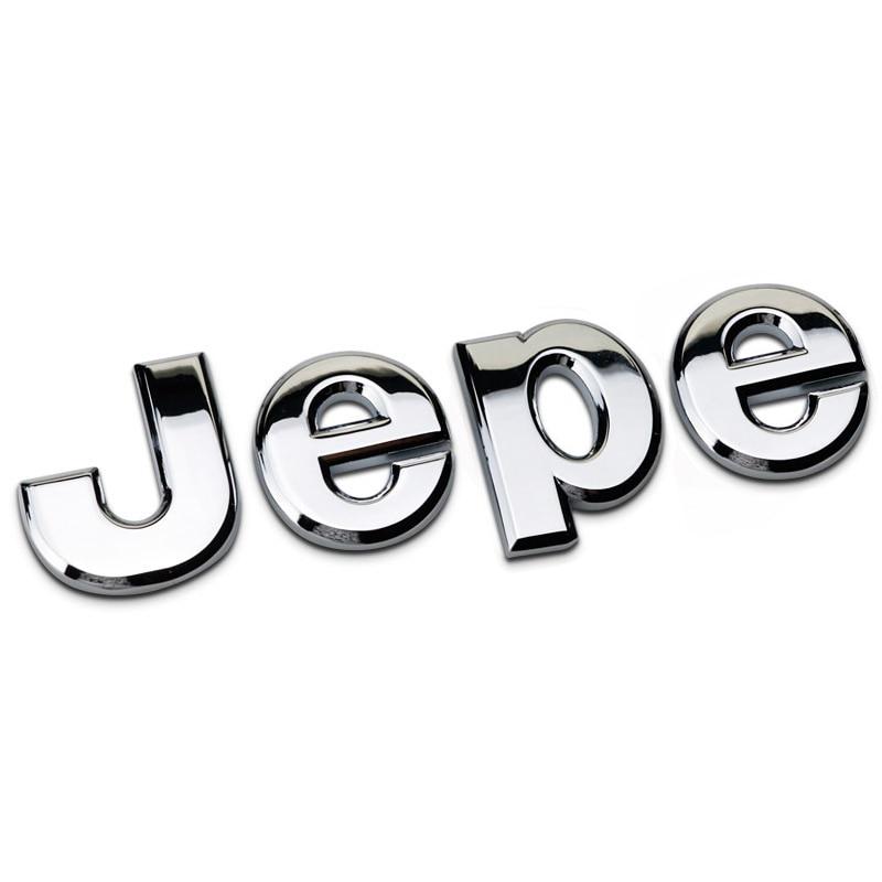 Car 3D Metal Sticker Logo Badge Emblem Trunk Decorative Decal for Jeep Grand Cherokee Wrangler Commander Compass Patriot