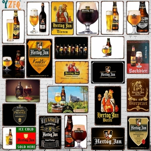 Beer Metal Sign Shabby Chic Drinking Poster Wall Home Restaurant Music Bar Art Man Cave Decoration 30X20CM DU-8031A(China)