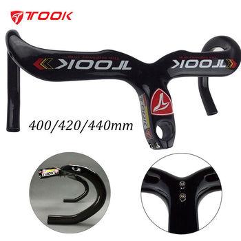 Carbon HandleBar Road Bike Handle Bar Bicycle Integrated Drop Bar 400/420/440mm Ultralight with Stem Cycling Parts Road Bike