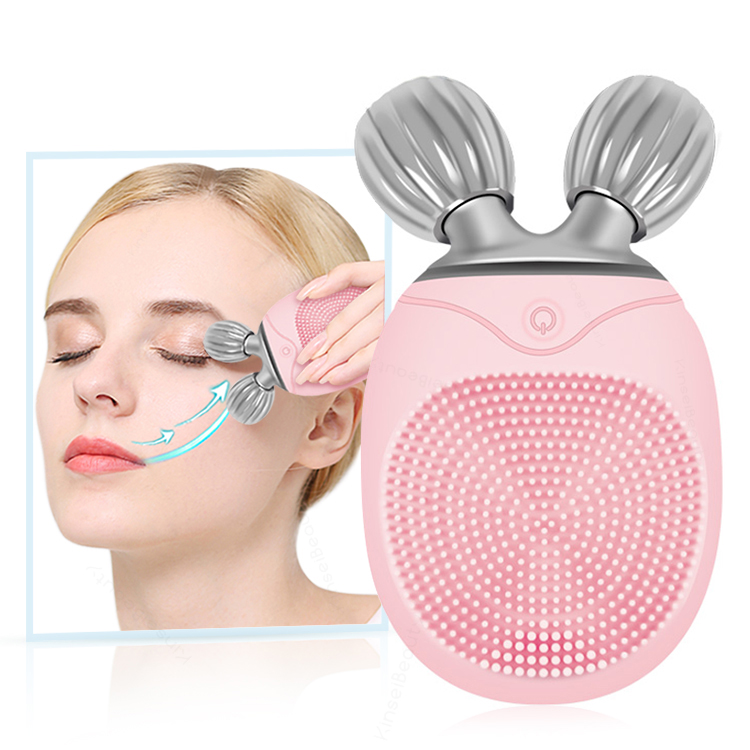Multifunction 3D Small Face Massager Roller 360 Rotate Balls Face Lifting Machine V Face Wrinkle Removal Roller Massager Cleaner