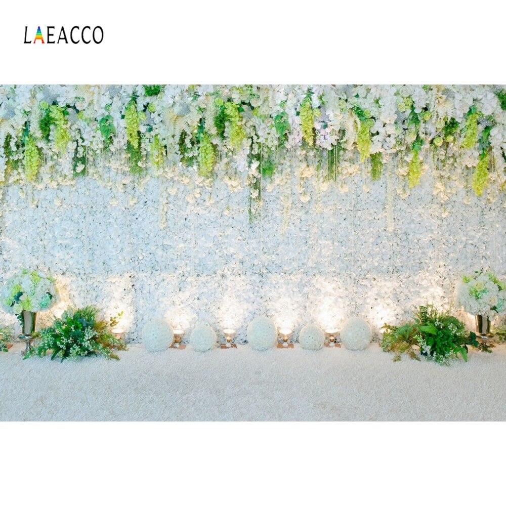 Laeacco Holofotes Parede de Flores de Renda Casamento Cena computadorizada Impressão Backdrops Para Estúdio de Fotografia Fotografia Fundos Foto Feita Sob Encomenda