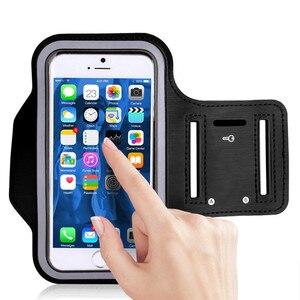 Image 2 - Mode en plein air confortable résistant à la sueur étanche Fluorescence Sport étui brassard écran tactile téléphone sac en cours dexécution Gym