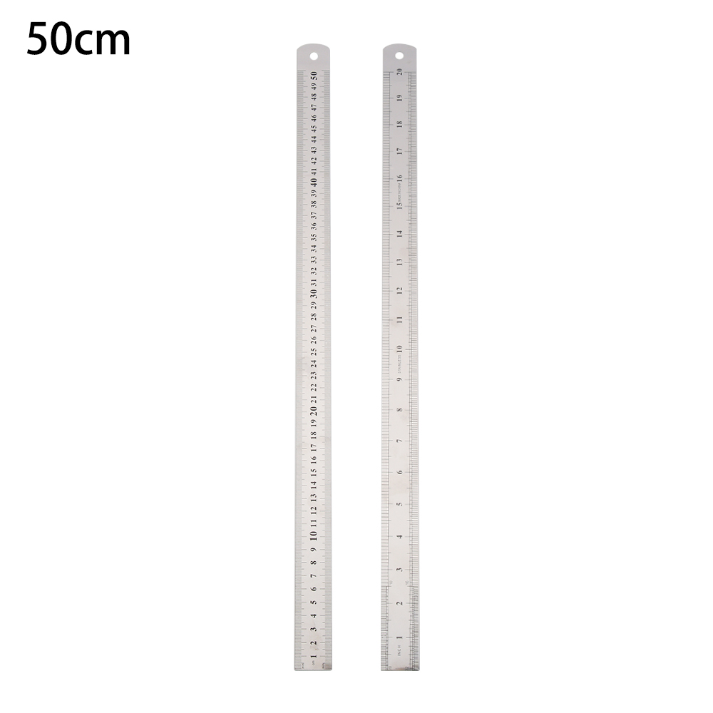 Double Side Stainless Steel Metric Straight Ruler Measuring Tools Precision New