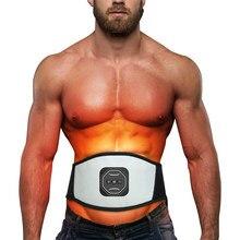 Usb inteligente recarregável ems aptidão trainer cinto display led elétrico estimulador muscular abdominal treinamento de ginástica em casa