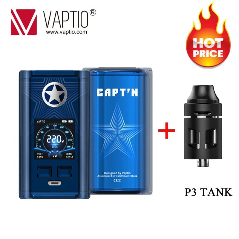 Gift!Original Vaptio CAPT'N 220W VAPE Box Mod Vaporizer For 510 Thread Vape 18650 Electronic Cigarette Mods Support RTA RDA RDTA