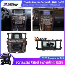 Автомобиль радио плеер для Nissan Patrol Y62 -infiniti QX80 2010-2020 двухэкранный автомобильный стерео автомобильный мультимедийный плеер gps-навигация, dvd-пл...