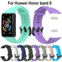2021 nuovo cinturino in Silicone per Huawei Honor band 6 cinturino di ricambio per cinturino smartwatch per cinturino regolabile Huawei band 6