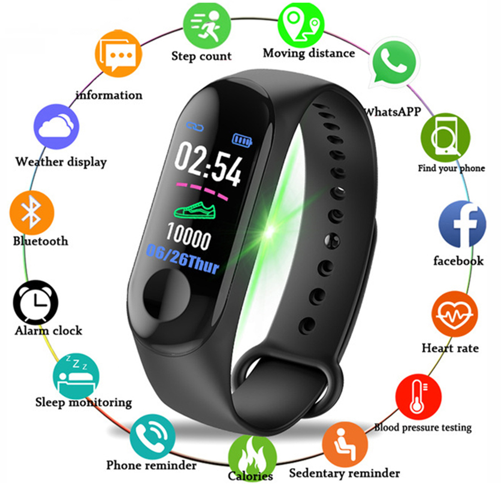 Smart Watch Blood-Pressure Sport Fitness-Tracker Heart-Rate-Monitor Masculino Men Relogio