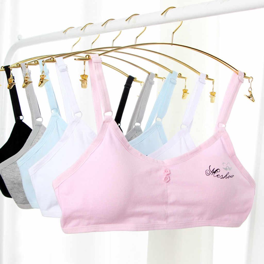 Crianças meninas roupa interior sutiã para crianças sutiã de treinamento de algodão meninas adolescentes sutiã ajustável colete crianças roupa interior adolescentes meninas sutiãs