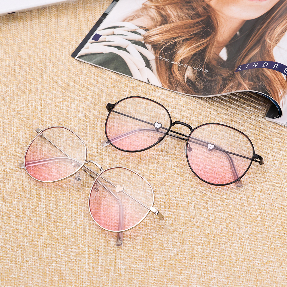 Ultralight Anti-Blue Light Myopia Glasses Metal Round Oversize Reading Eyeglasses Vision Care Diopter 0~-5.0 Hot Optical Eyewear