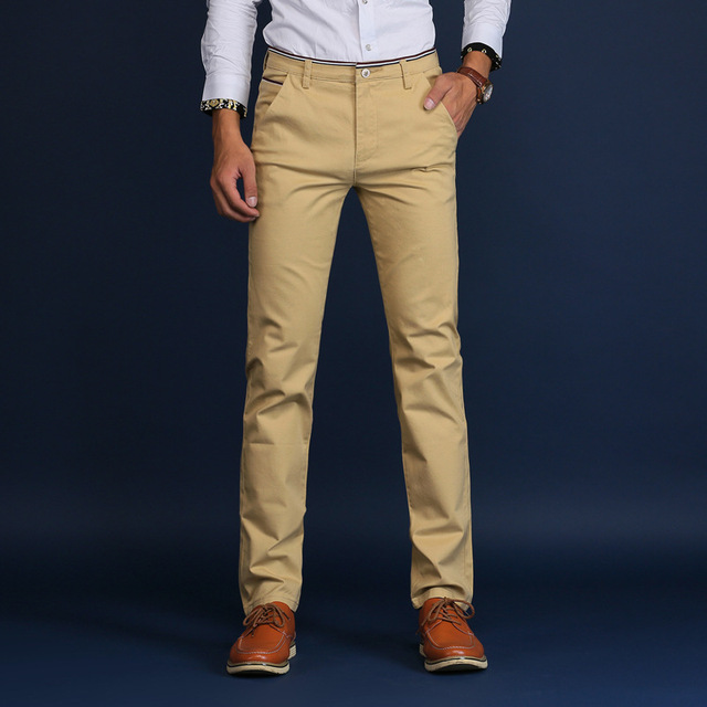 Men's Slim Casual Pants Fashion Business Cotton