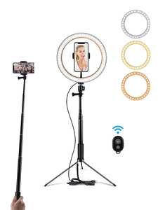 Ring-Lamp Tripod Makeup-Light Table Selfie-Stick Youtube Video Phone Photo-Studio Photography