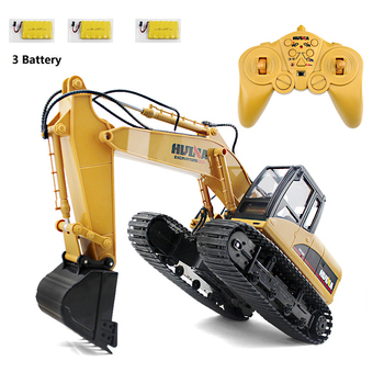 HuiNa Toys 15 Channel Simulation RC Excavator toys For Children's Boys RC Truck Toys Gifts RC Engineering Car Rock Crawlers