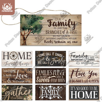 Putuo Decor Home Wooden Signs Family Wood Wall Plaque Art for Friendship Pendant Decoration