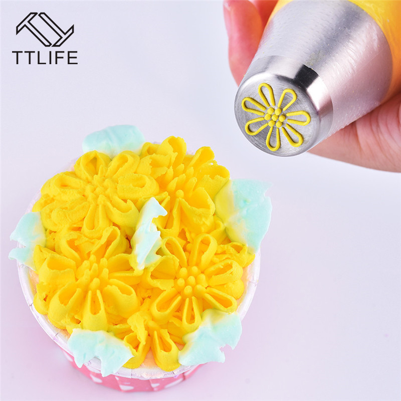 VOGVIGO 27style Russian Tulip Icing Piping Nozzles Stainless Steel Flower Cream Pastry Tips Nozzles Cupcake Cake Decorating Tool