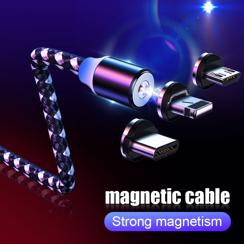 H&A Magnet Charger Phone Cable Micro USB Type C For iPhone Lighting Cable Fast Charging