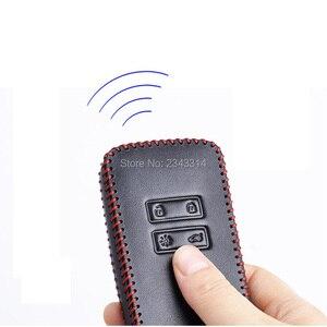 Image 2 - Para renault dacia duster 2020 botões chaves inteligentes couro genuíno carro de controle remoto chaveiro capa caso acessórios