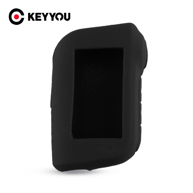 KEYYOU For Starline A93 A63 Two Way Car Alarm Remote Controller A93 A63 LCD Transmitter Keychain Silicone Cover Key Case