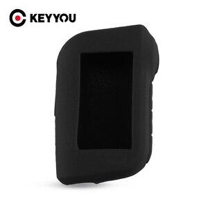 Image 1 - KEYYOU pour Starline A93 A63 télécommande dalarme de voiture bidirectionnelle A93 A63 LCD émetteur porte clés étui à clés en Silicone