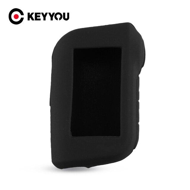 KEYYOU pour Starline A93 A63 télécommande dalarme de voiture bidirectionnelle A93 A63 LCD émetteur porte clés étui à clés en Silicone
