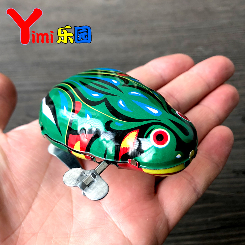 Suitable For Algam Greenish Blue Children Classic Spring Tightening Frog Leap Frog 80 After Animal Baby Gift On