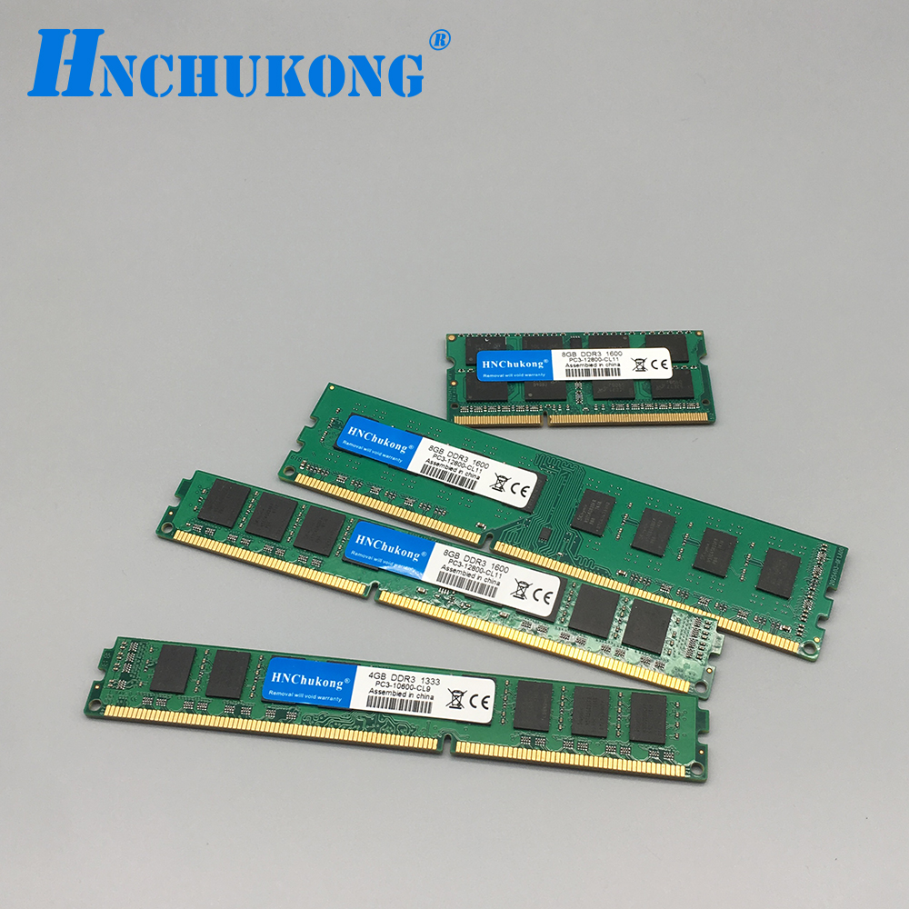HNChukong DDR3 2GB <font><b>4GB</b></font> 8GB <font><b>1600</b></font> PC Memory <font><b>DDR</b></font> <font><b>3</b></font> Ram Computer dimm for all motherboards image