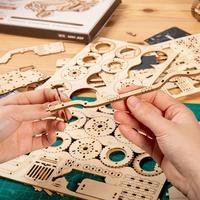 Robotime Train modèle 3D à assembler Puzzle en bois locomotive modèle kits de construction 6