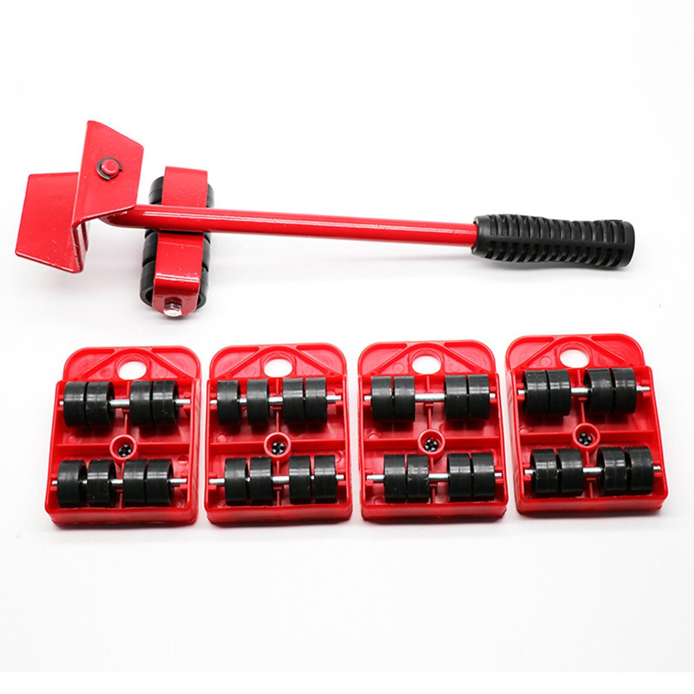 Furniture Lifter Easy To Move Slider 5 Piece Set Mobile Tool Set Heavy Furniture Equipment Mobile And Lifting System Multicolor