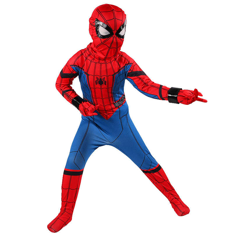 Spiderman para niños: disfraz para reunión de ex alumnos de Cosplay, disfraz de fantasía de Spiderman The Avenger, Spiderman para Halloween