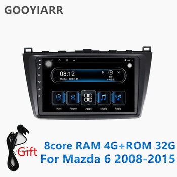 1din stereo Android car Multimedia Player 8 core RAM4G+ROM32G gps navigation for Mazda6 2008 2009 2010 2011 2012 2013 2014 2015 image