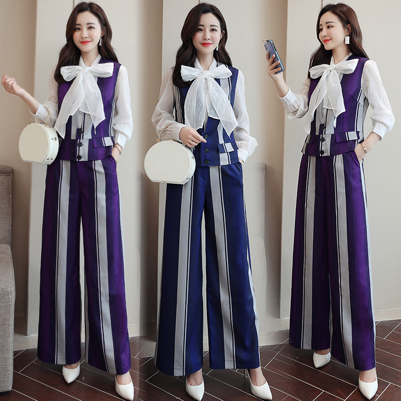 Short Mixed Colors Set Trend 2019 Spring Comfortable Simple Cool Slim Fit Long Sleeve Fashion