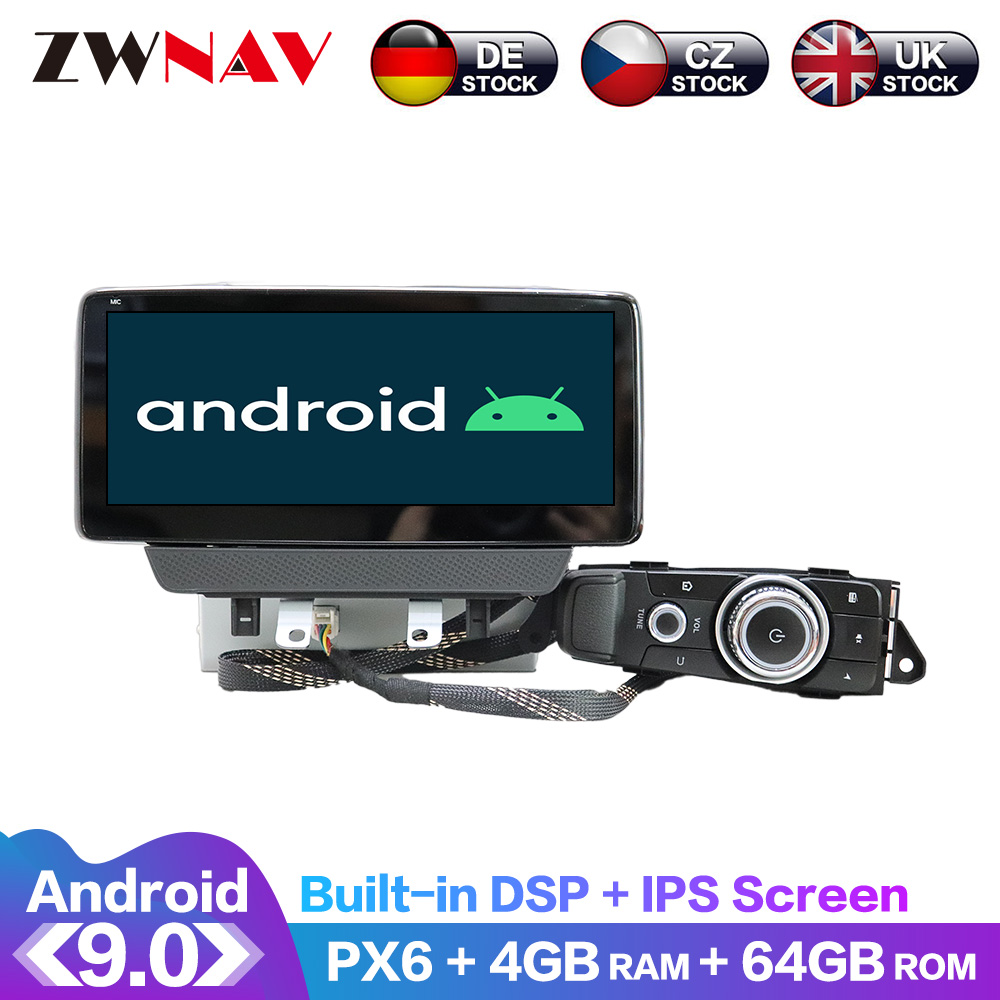 Android 9.0 4+64G PX6 DSP Carplay Radio Car DVD Player GPS navigation For Mazda CX-<font><b>3</b></font> 2018 2019 2020 2021 Head Unit Multimedia image