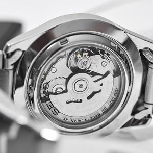 Image 4 - Seiko שעון גברים 5 אוטומטי שעון יוקרה מותג עמיד למים ספורט שעון יד תאריך mens שעונים צלילה שעון relogio masculin SNZG