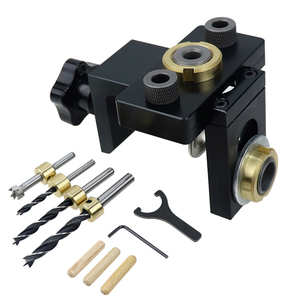 Image 5 - Doweling Jig Pocket Hole Jig Kit Wood Vertical Drilling Detachable Locator For Furniture Connecting Hole Puncher Carpentry Tools