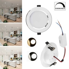 Dimmable LED Recessed Ceiling Downlight 18W 15W 12W 9W 7W 5W 3W Light Lamp 110V 220V With Driver Spot Indoor Lighting