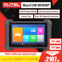 Autel MaxiCOM MK908 Pro 진단 도구 J2534 프로그래밍 도구를 통과 ECU 코딩 MK908P MS908 PRO ms908p보다 우수함
