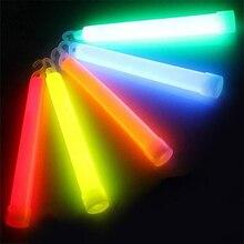 5 шт./лот, 6 дюймов, многоцветная светящаяся палка, химический светильник, палка для кемпинга, аварийное украшение, вечерние принадлежности для клубов, химические флюоресцентные принадлежности