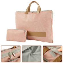 PU Leather Laptop Bag 15.6 inch Waterproof Casual Laptop Sleeve Case PC Tablet Case Cover Men Women Travel Briefcase for Macbook цены