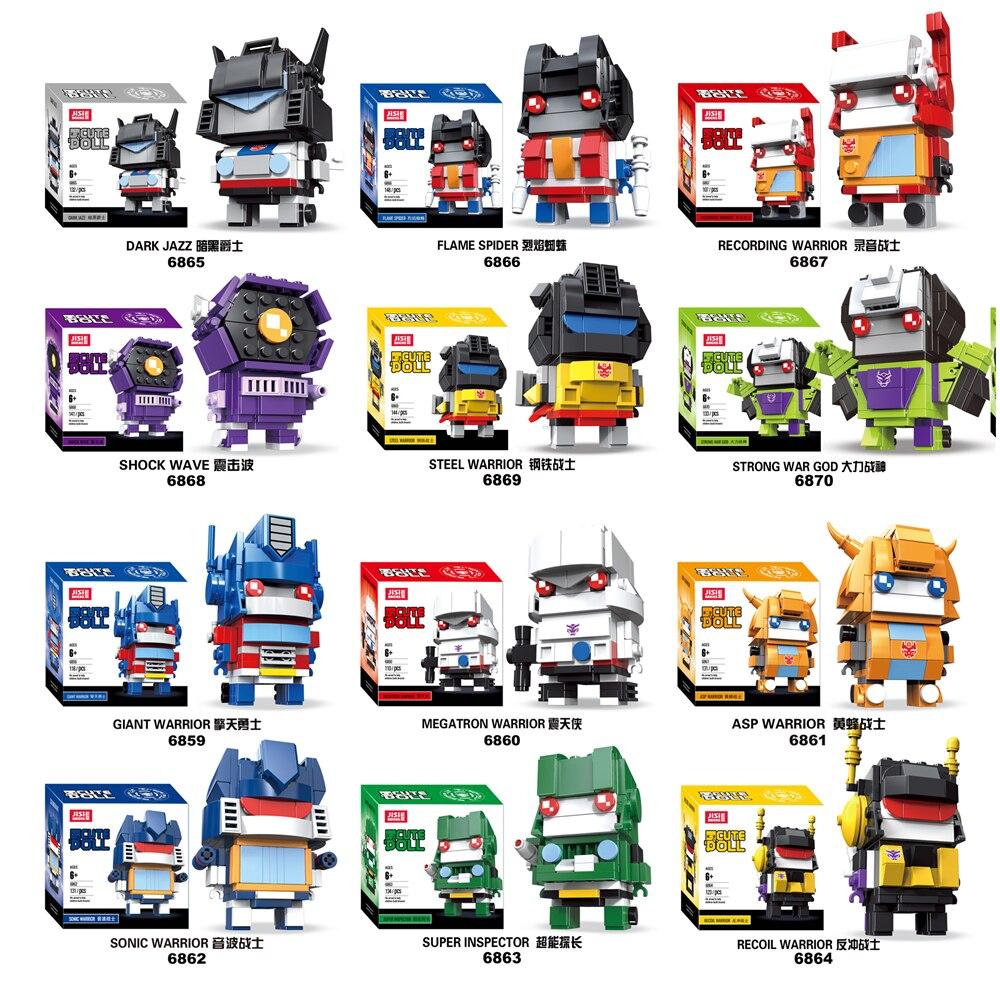 NEW Transformers Brickheadz  Compatible Legos BUMBLEBEE Megatron Action Figure Building Blocks Bricks Toys For Children's Gifts