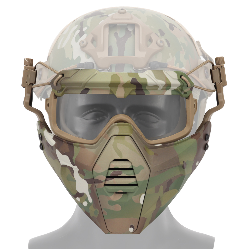 Airsoft Paintball Tactical Mask And TMC Military Goggle Safety Helmet Clear Glasses Eyes Protection Shooting Hunting Accessories