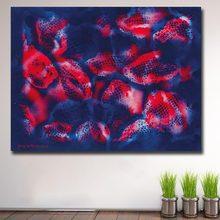 Impressão a óleo pintura da parede yayoi kusama cavala céu ao pôr-do-sol casa decorativa parede arte imagem para sala de estar pintura