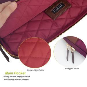 Image 3 - Laptop Bag 13.3 Inch For Macbook Pro 13 Bag Women Laptop Sleeve For Macbook Air 11/13 Notebook Bag with Removable Shoulder Strap